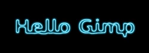gimp霓虹灯效果